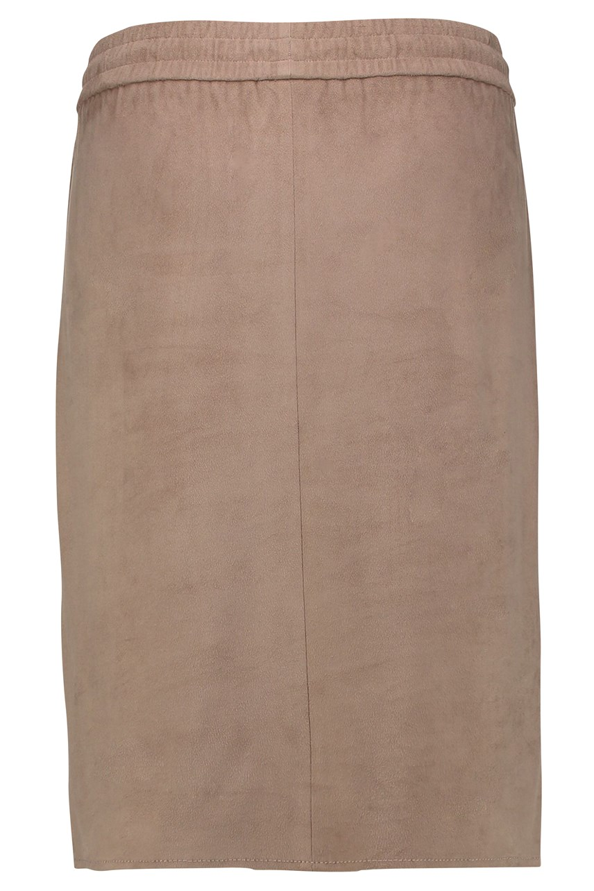 Suede Feel Drawstring Skirt