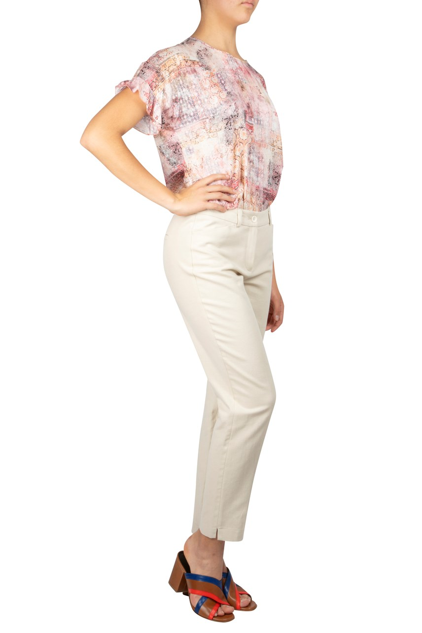 Cropped Straight Leg Trouser