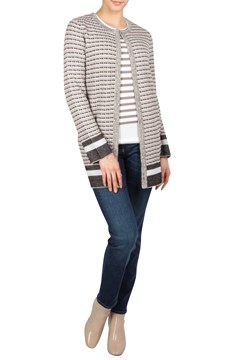 Stripe Long Cardigan - 7100
