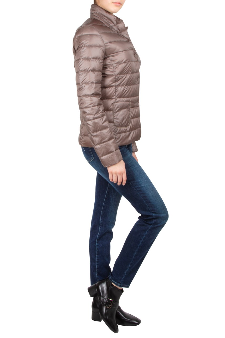 Quilted Funnel Neck Jacket