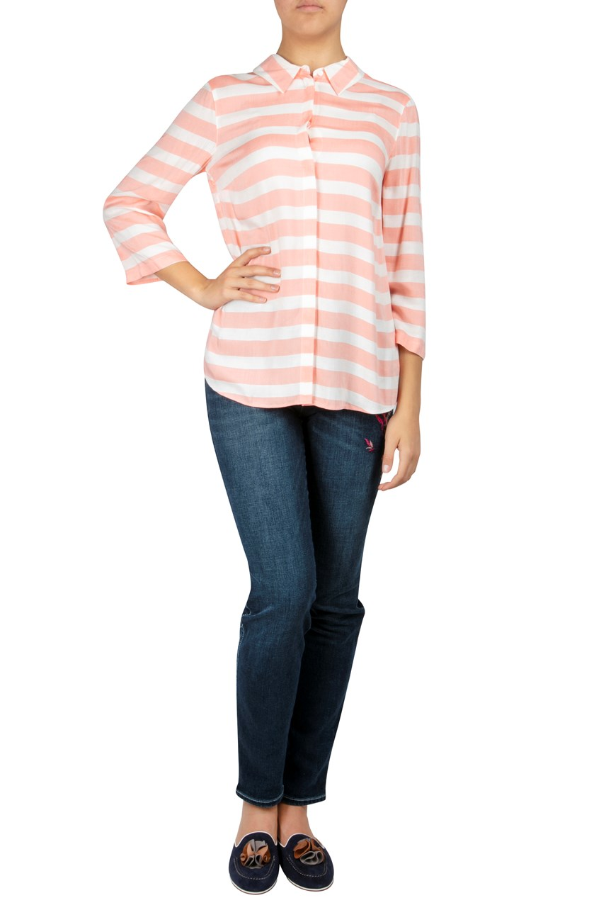 Striped 3/4 Sleeve Shirt