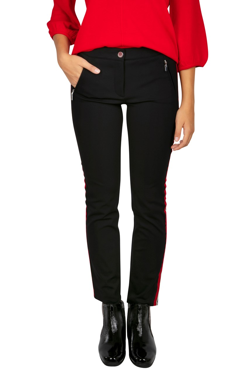 Cropped Side Stripe Trousers