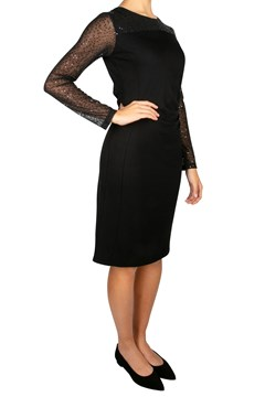 Sequin Sleeve Ruched Dress - 11000