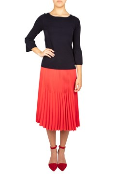 Pleated Knee Length Skirt 30280 1