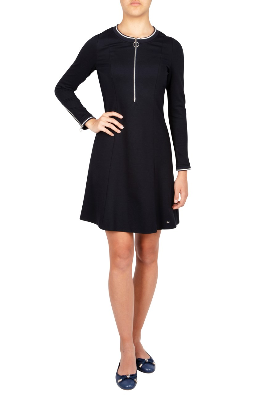 Zip Up Knit Dress