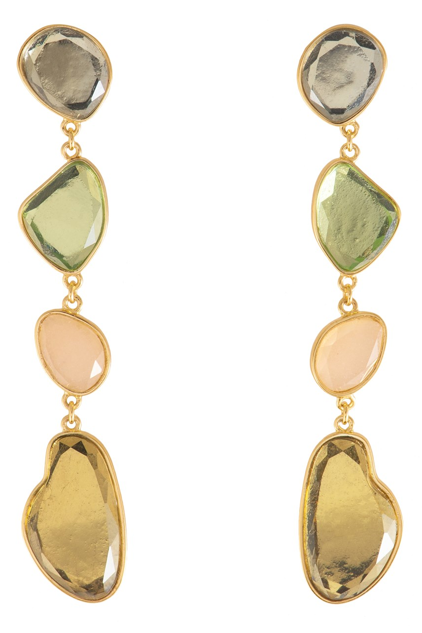 Soleil Gem Gold Earrings