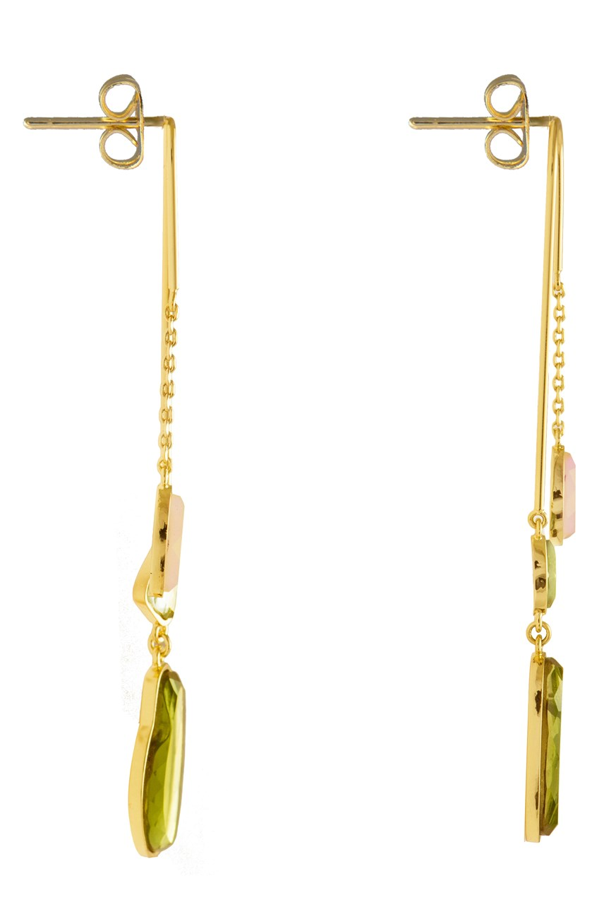 Skye Gold Drop Earrings