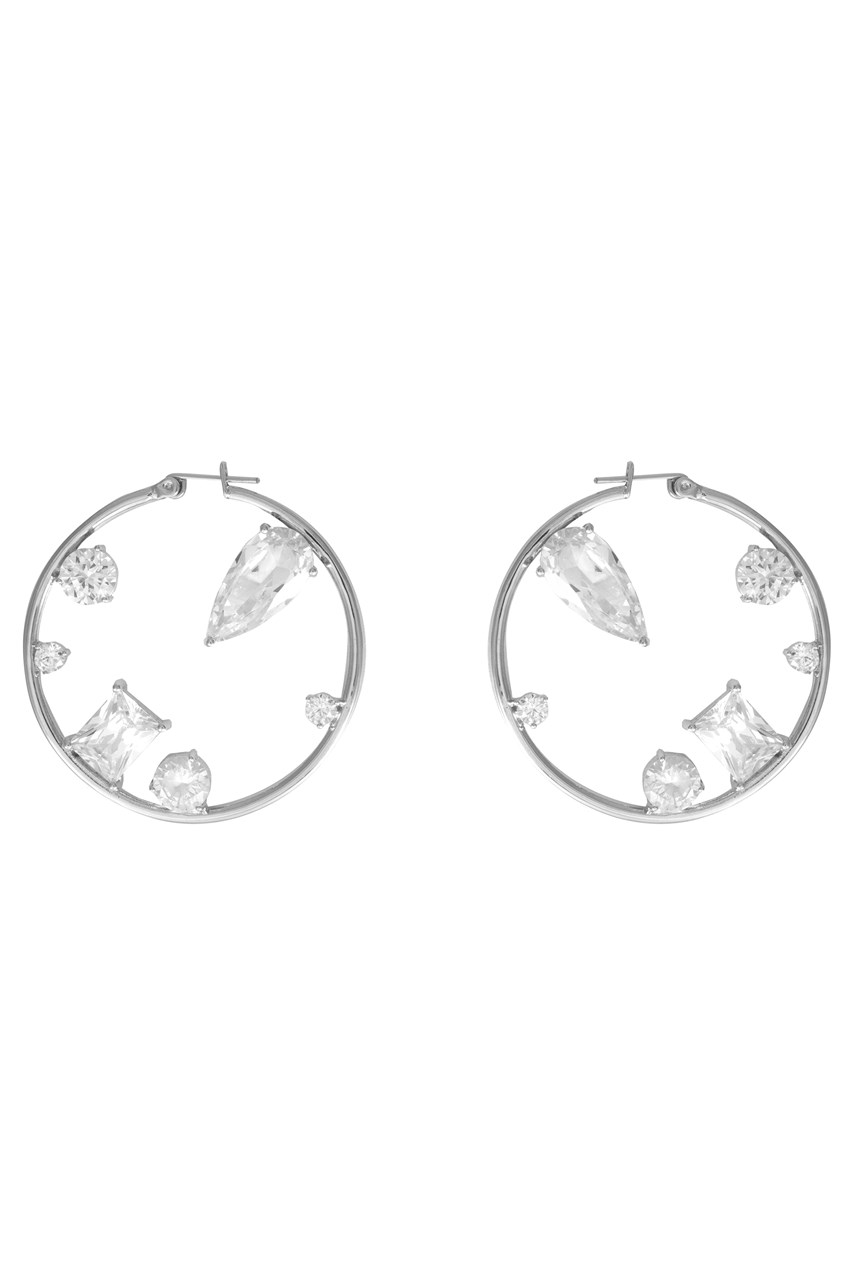 Skylar Silver XL Hoop Earrings