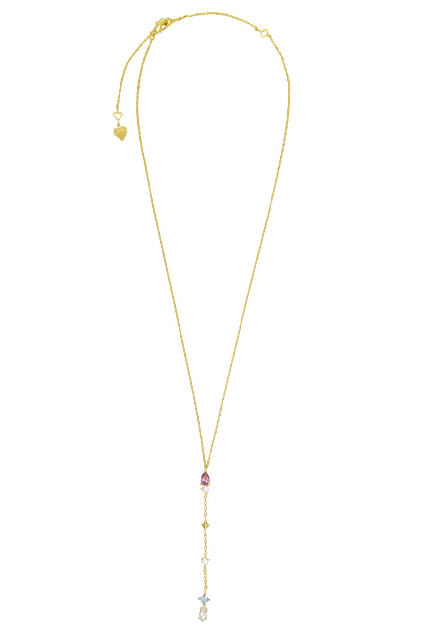 Kaia Gold Lariat Necklace