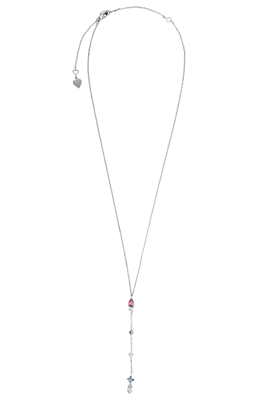 Kaia Silver Lariat Necklace