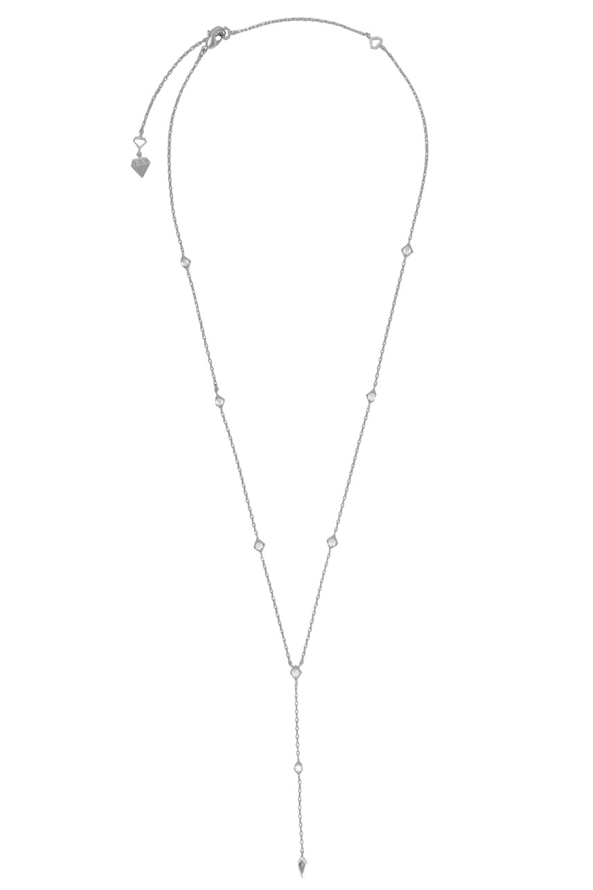 Zyia Silver Lariat Necklace