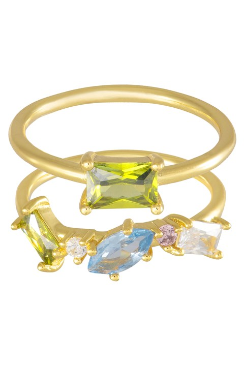 Kaia Gold Ring Set - gold