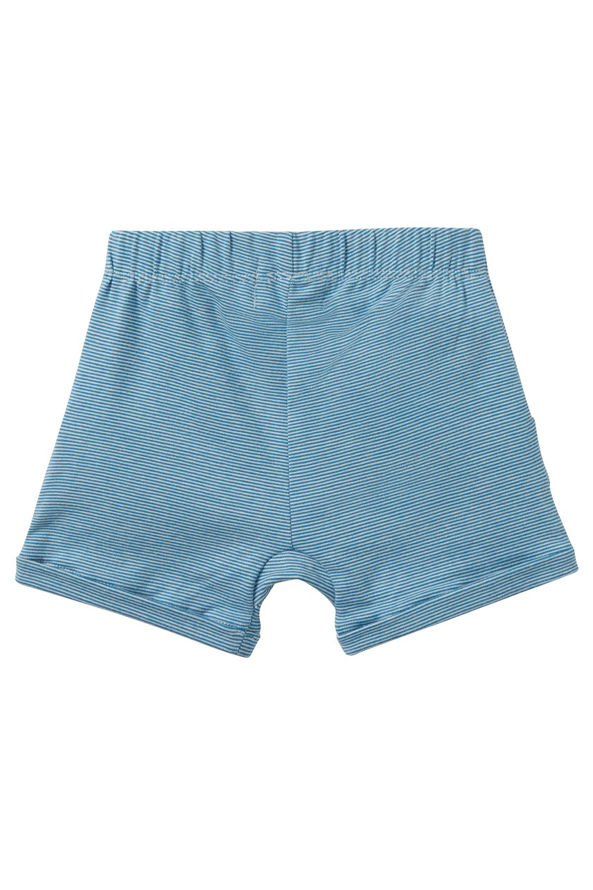 Mediterranean Blue Stripe Ruffle Pocket Short