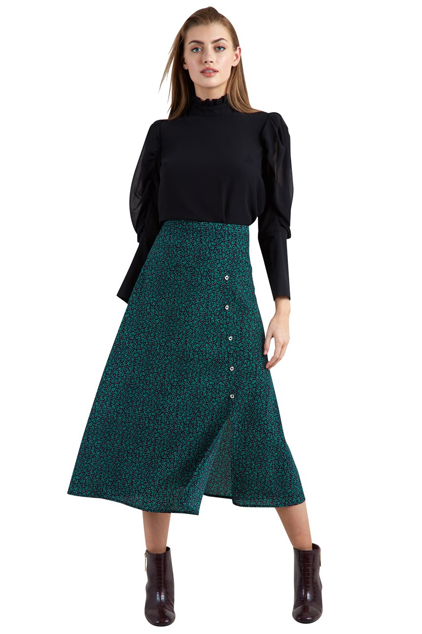 Barney Lucky Flowers Midi Skirt