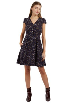 Cathleen Autumn Bud Mini Dress NAVY 1