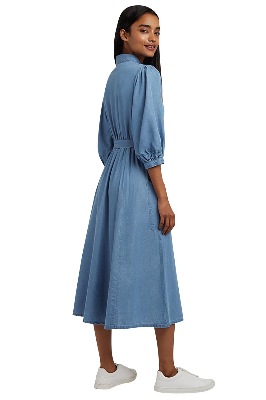 Lilwenn Chambray Midi Dress