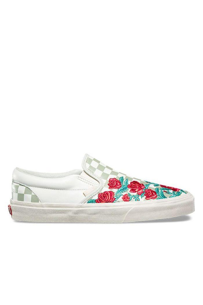 Rose Embroidery Slip On DX Sneaker