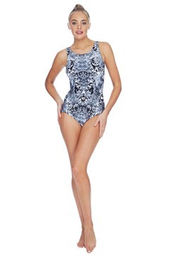 Florence High Neck Mastectomy Swimsuit BLACK 1