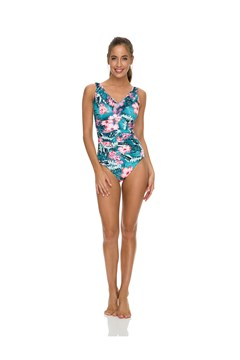 Coco Front Ruched DD/E Cup Swimsuit BLUE 1