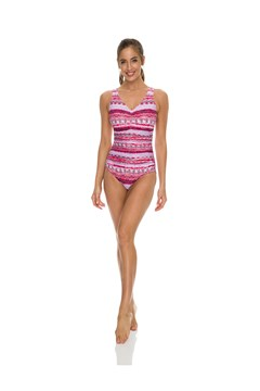 Jewel Front Ruched Swimsuit RUBY 1