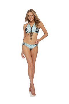 Crusade Gathered Bikini Bottom BLACK 1