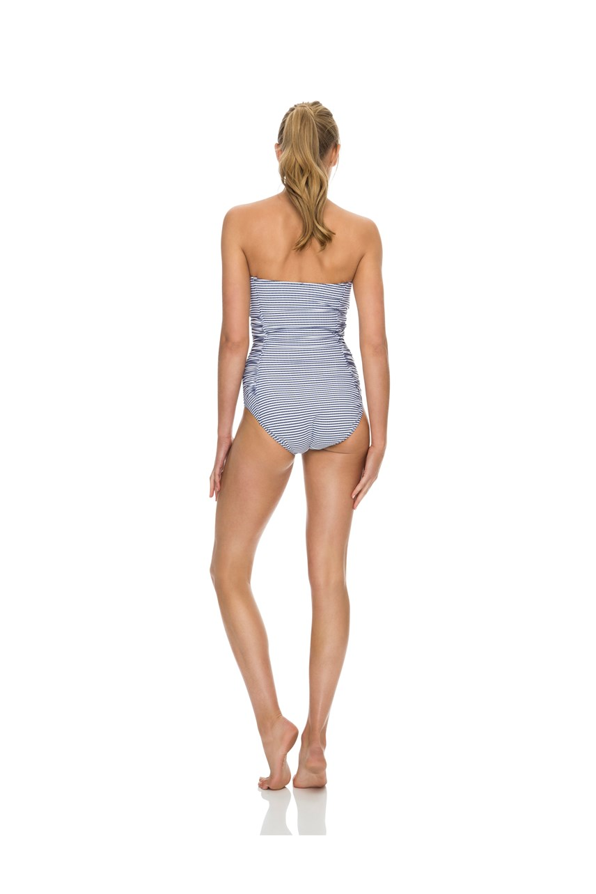 Porter Ruched Bandeau Swimsuit