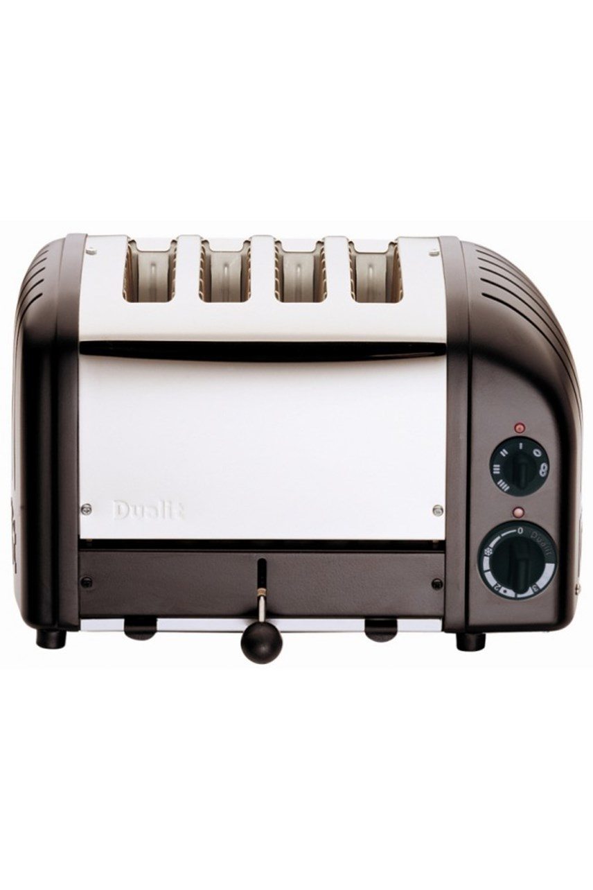 Toaster 4 Slice Polished Black Ends