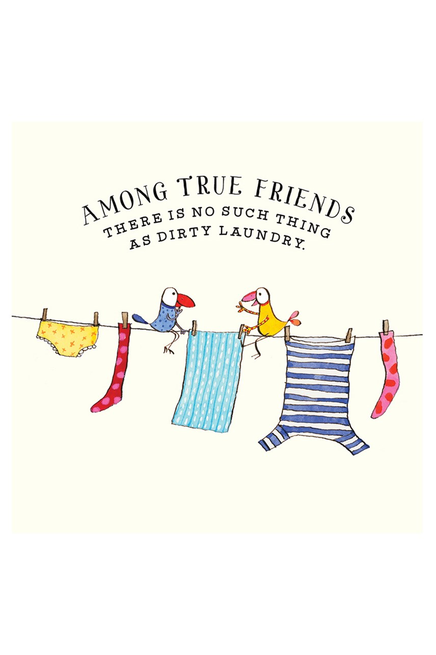 Among True Friends Card