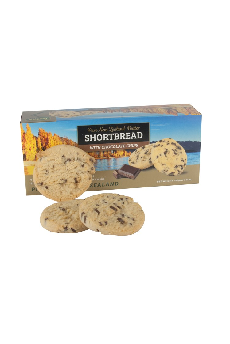 Pure New Zealand Butter Shortbread With Chocolate Chips