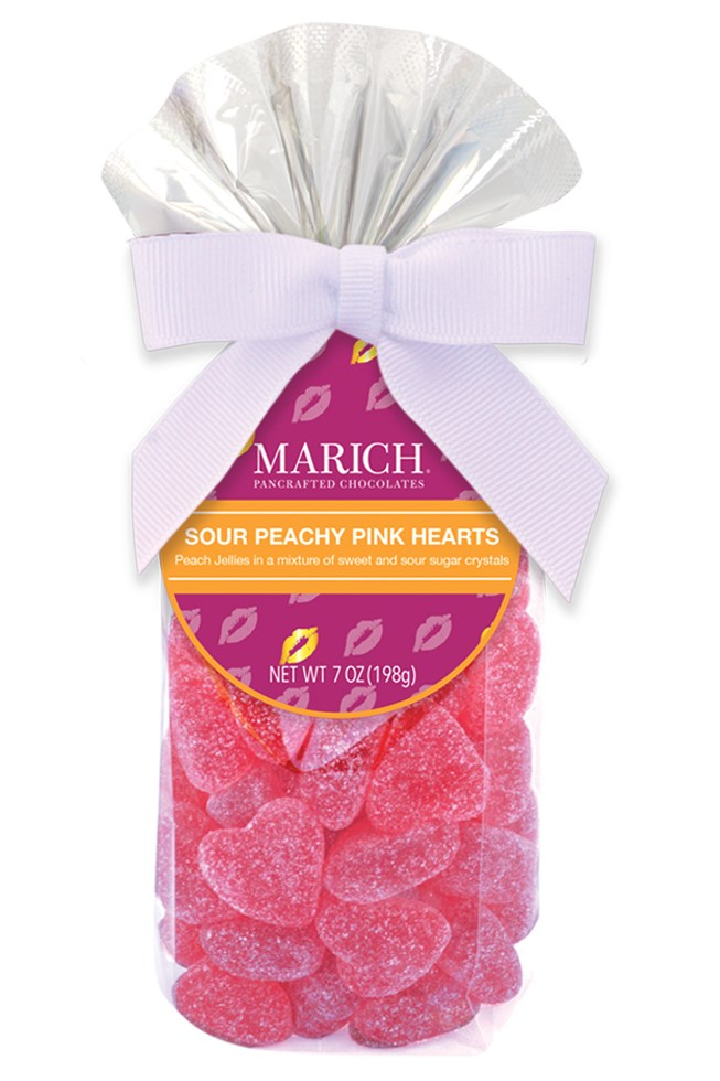 Sour Peachy Pink Hearts