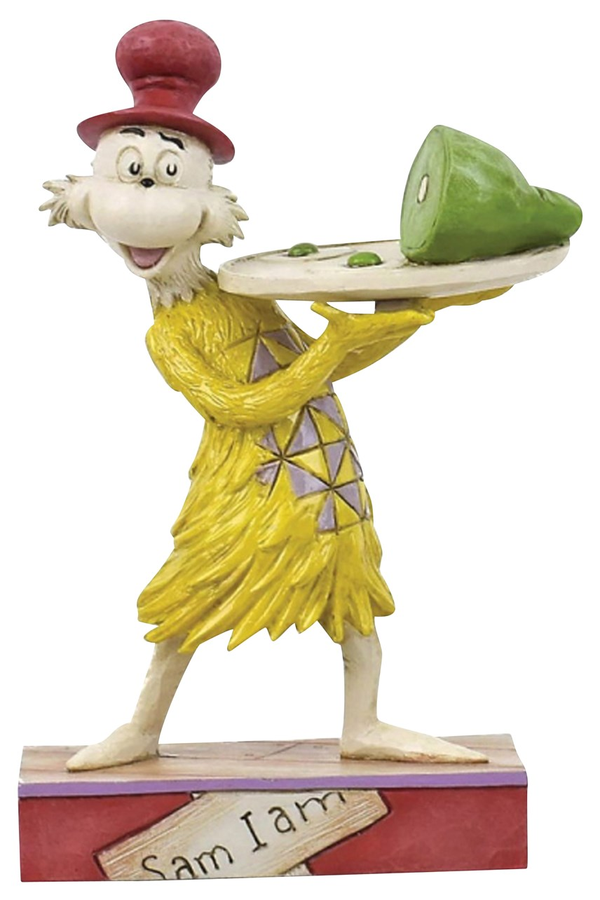 Sam Holding Green Eggs And Ham Figurine