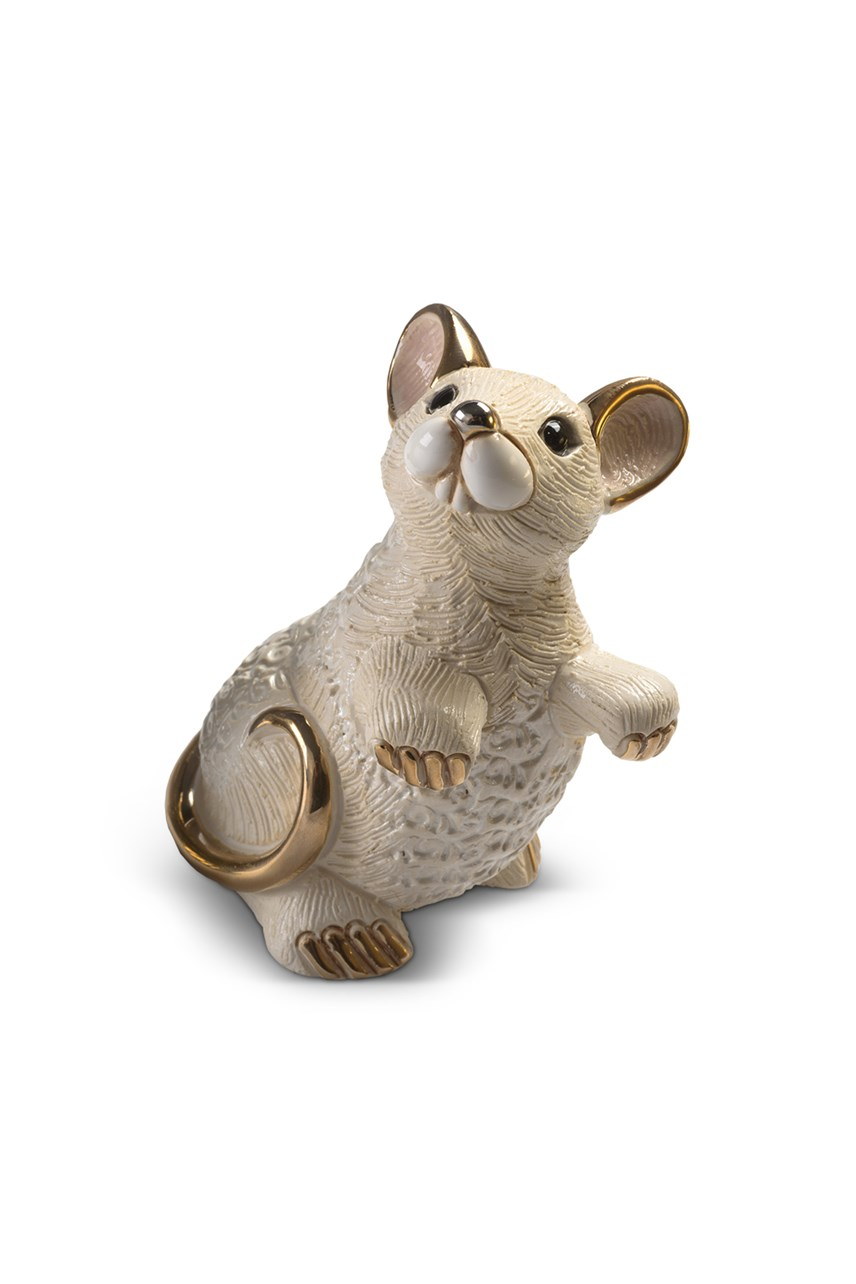 White Rat Figurine