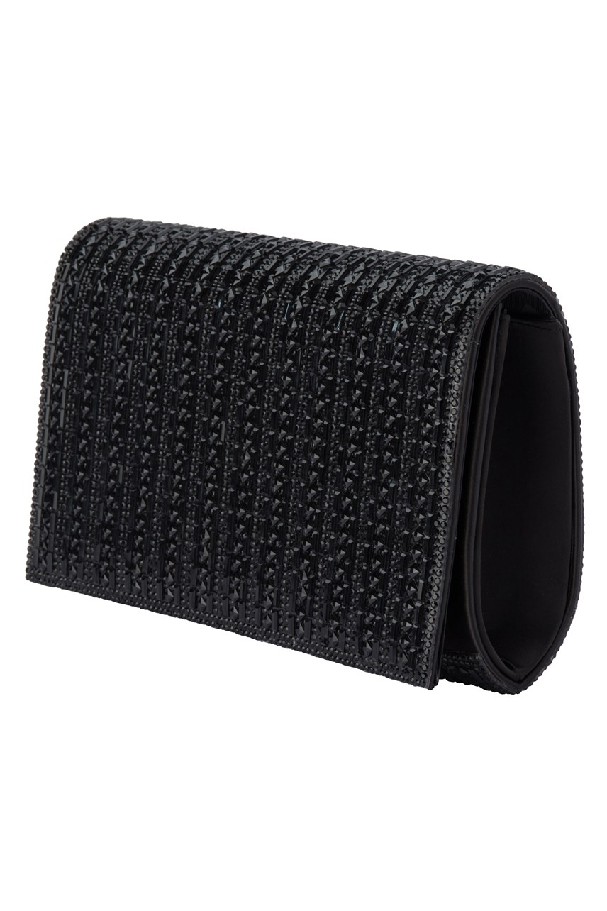 Liliana Crystal Foldover Clutch