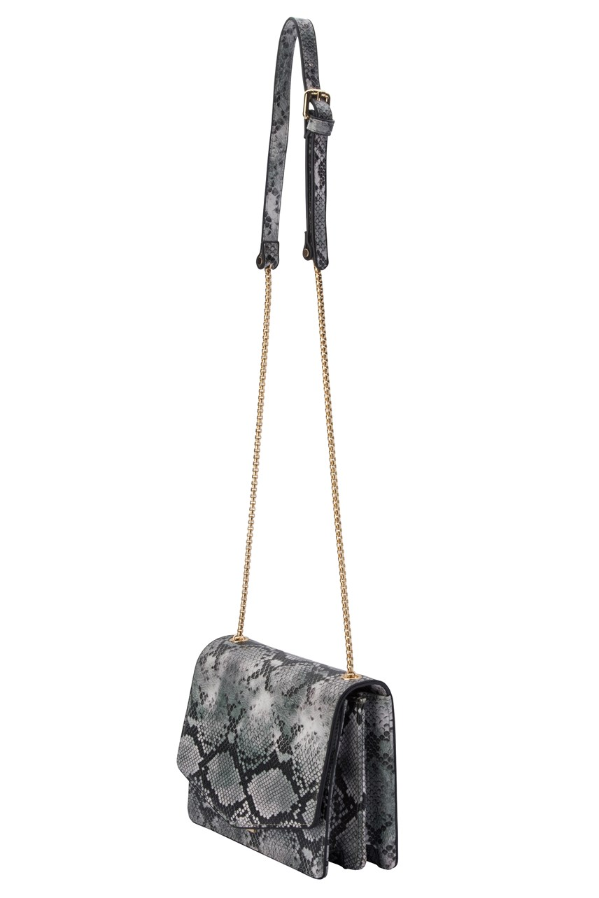 Addison Snake Print Shoulder Bag