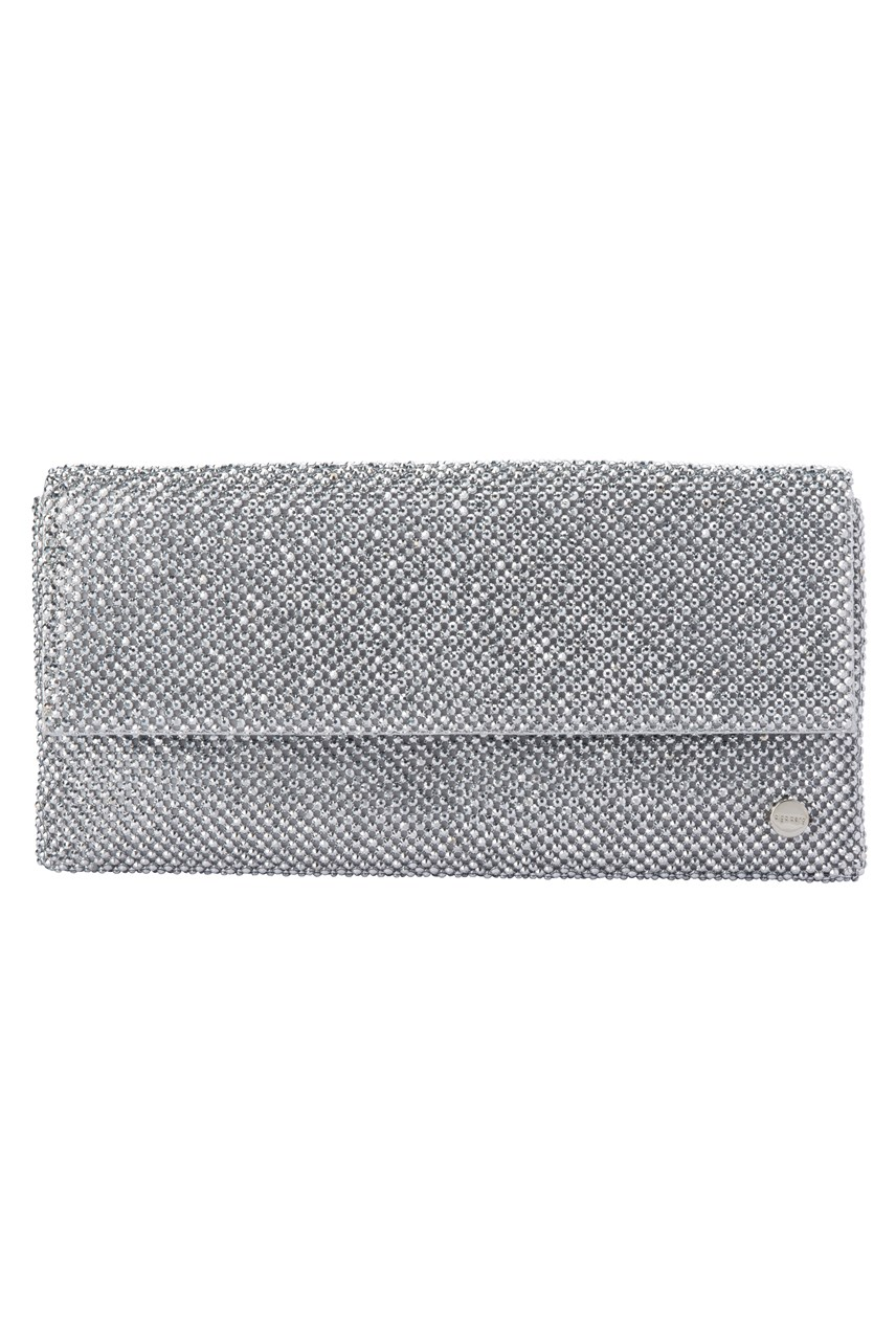 Gemma Slim Crystal Mesh Clutch