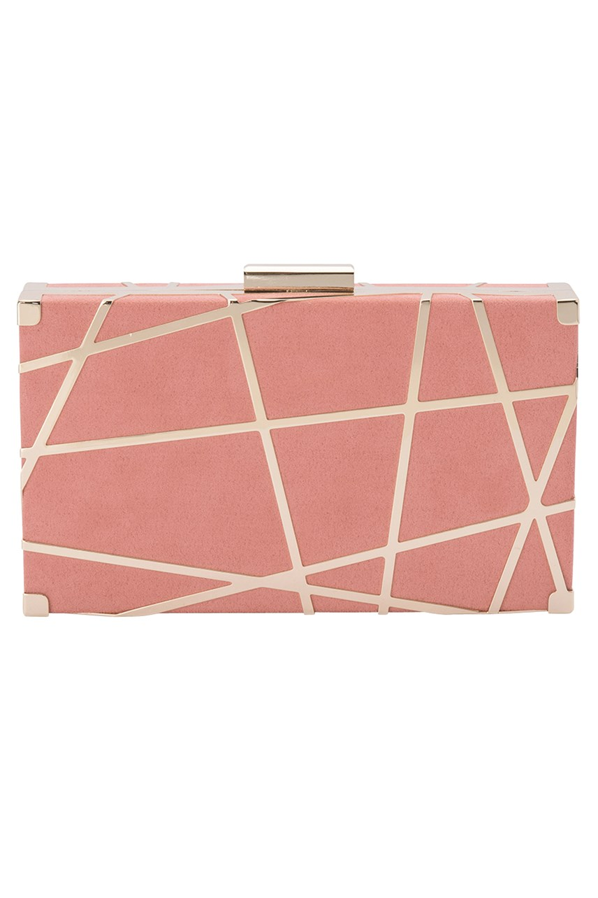 Kenzie Metal Striped Pod Clutch