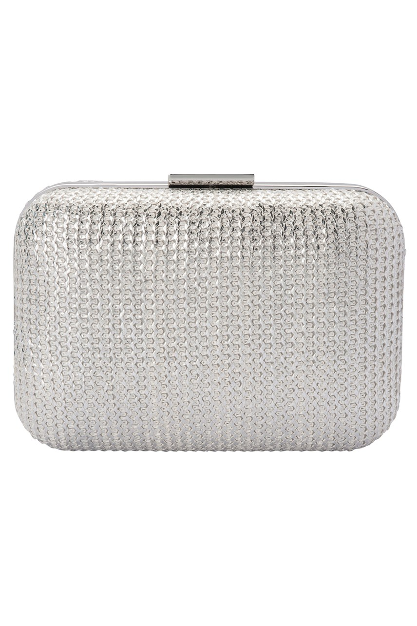 Lana Metallic Knit Pod Clutch