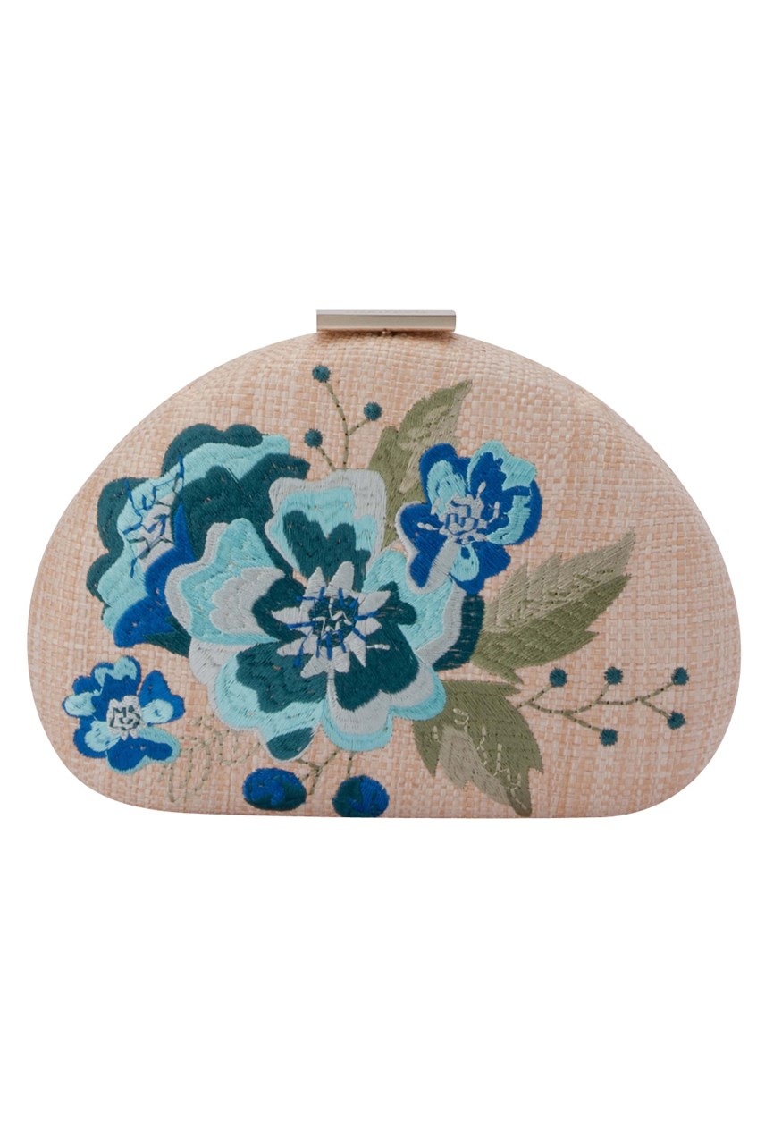 Flora Embroidery Pod Clutch