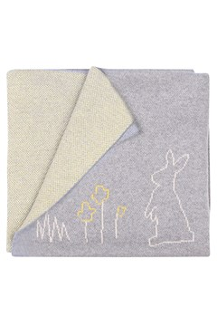 Cotton Bunny Blanket GREY/YELLOW 1