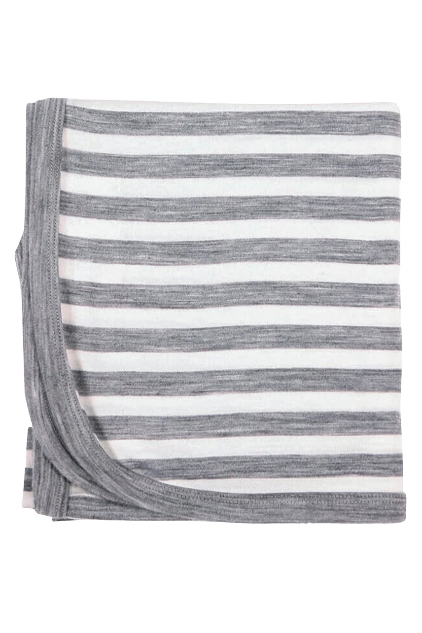 Merino Wrap - Grey Stripe