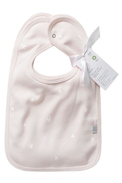 Organic Cotton Bib Set - Shell Pink Star SHELL PINK STAR 1