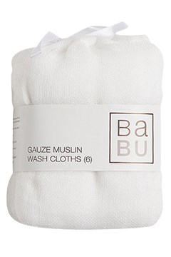 Gauze Muslin Wash Cloths - White WHITE 1