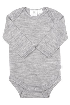 Merino Long Sleeve Bodysuit - Grey GREY 1