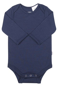 Merino Long Sleeve Bodysuit - Navy NAVY 1