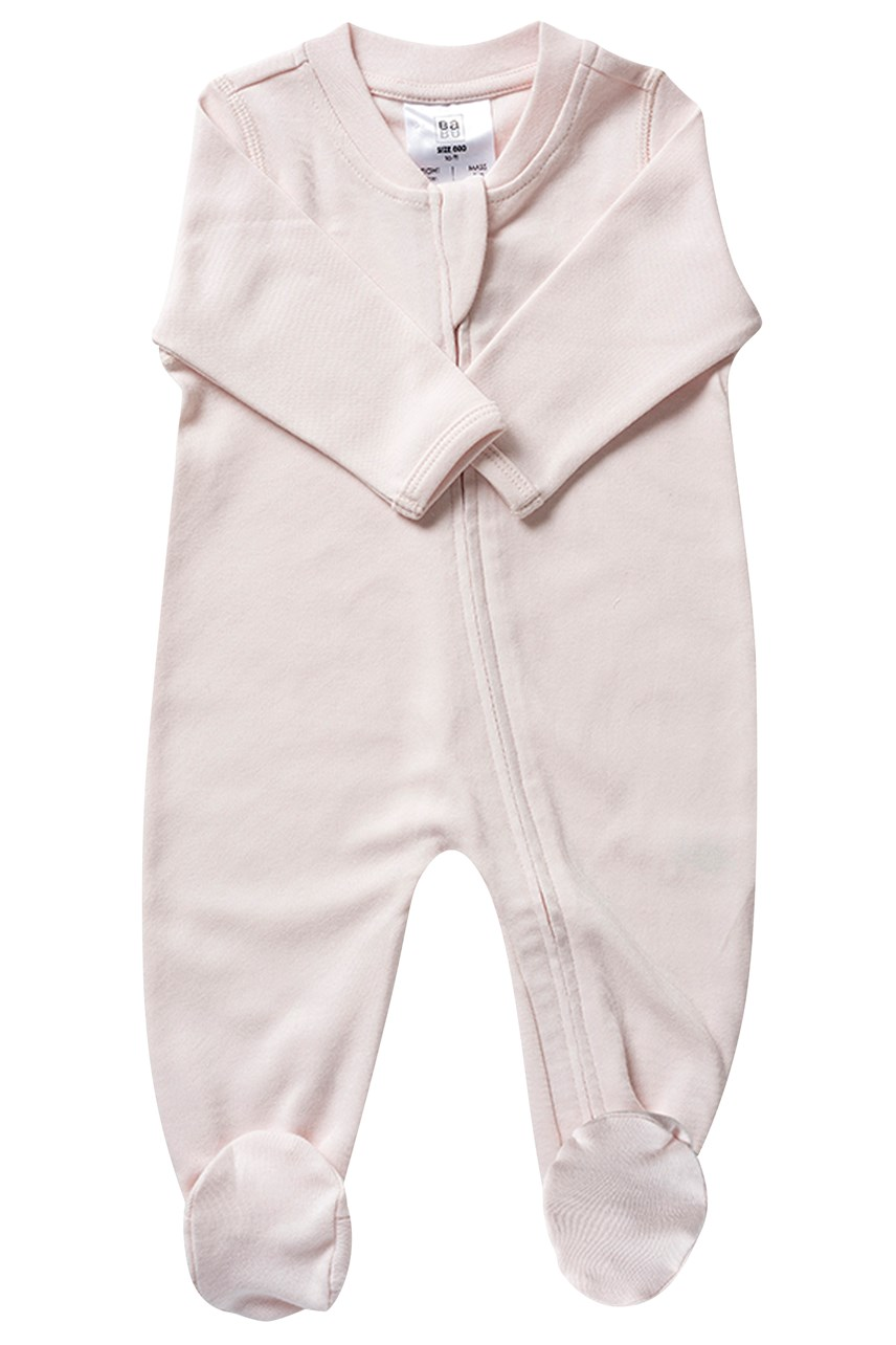 Organic All In One Zip Front - Shell Pink