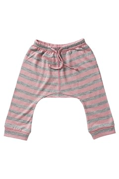 Merino Drop Crotch Pant - pink stripe