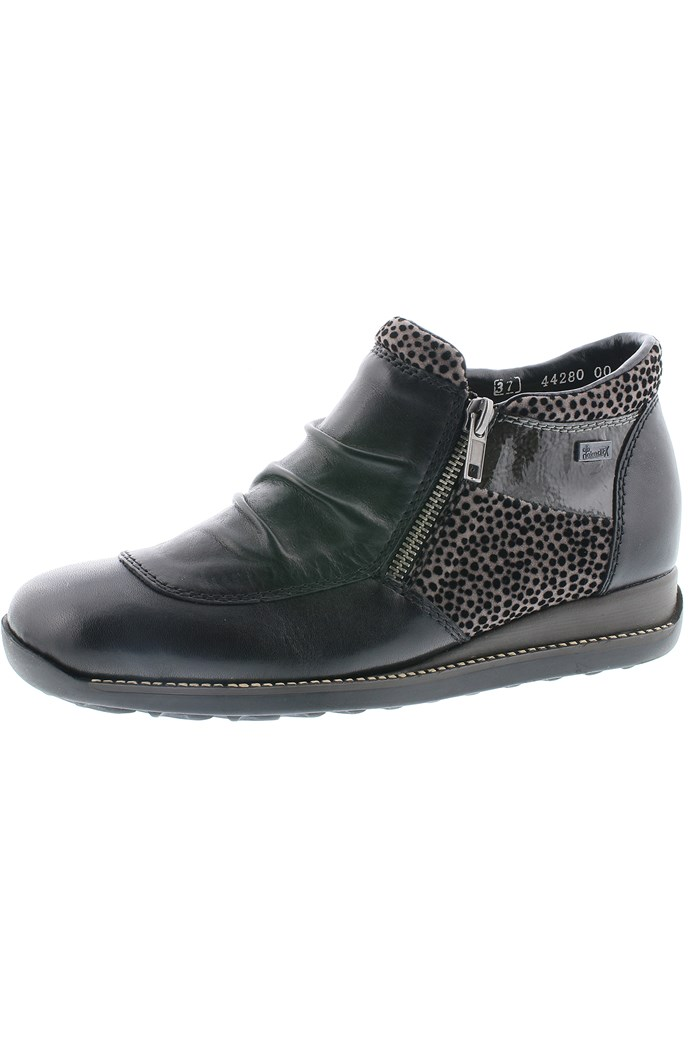 Leather Ankle Boot With Zip