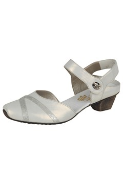 Rieker Closed In Sandals WHITE/SILVER 1