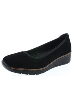 Suede Slip On Loafer - black