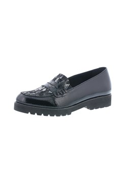 Patent Leather Metallic Loafer BLACK 1